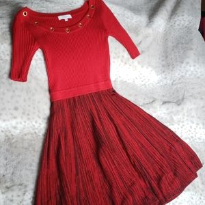 Candie's Red Sweater Dress